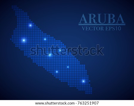 Aruba Map Page Symbol Your Web Stock Vector 763251907 - Shutterstock
