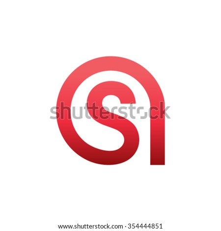 AS Logo Letters - stock vector