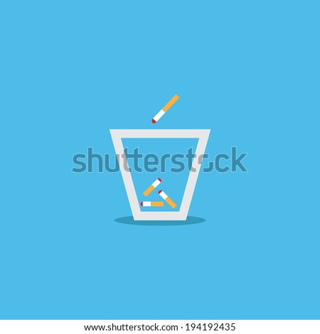 Ashtrays icon - stock vector