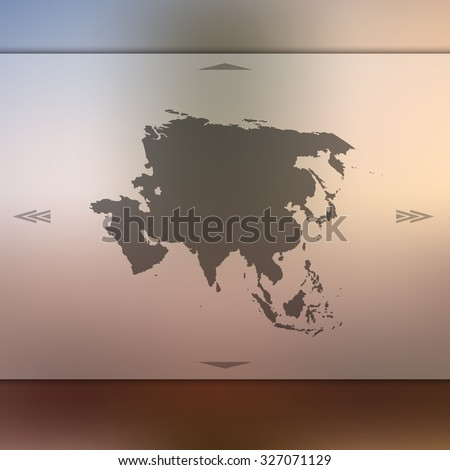 Asia map on blur background. Blur background with silhouette of Asia. Blur Asia. Asia. Asia map. Blur. Blur background. Silhouette of Asia. Silhouette Asia. Asia vector map. Vector map. Blur asia map. - stock vector