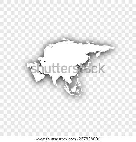 Asia vector map - stock vector