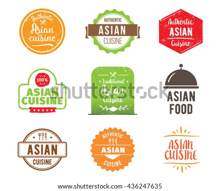 Banana peach labels stock vector 150108344 shutterstock for 7 spice indian cuisine