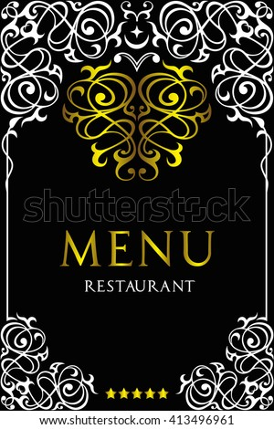 Asian cuisine restaurant menu design.