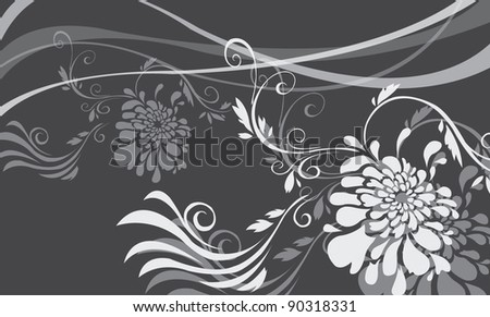 Asian Floral Pattern sample - stock vector