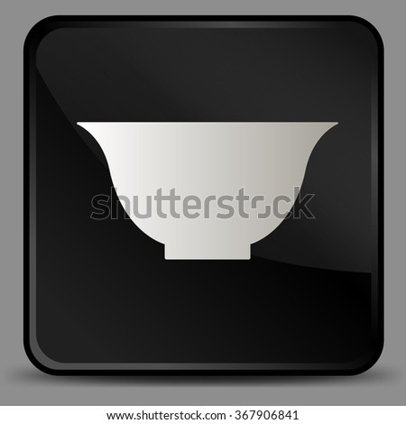 Asian little cup for tea vector icon