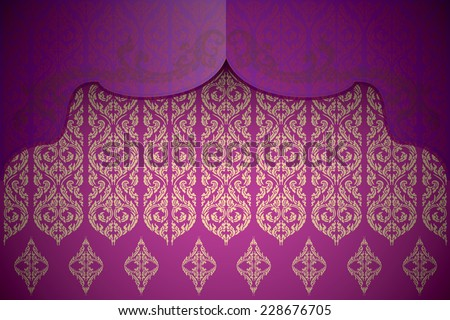 Asian traditional art Design Vector, Thai traditional design, thai background - stock vector