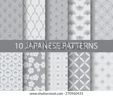 Asian traditional seamless patterns, pattern Swatches, vector, Endless texture can be used for wallpaper, pattern fills, web page,background,surface   - stock vector