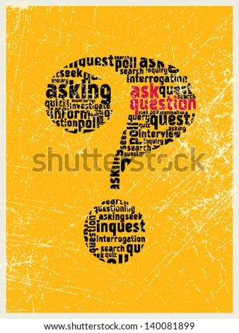 Ask the question mark - stock vector