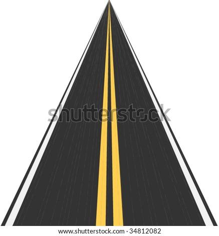 Asphalt road - stock vector