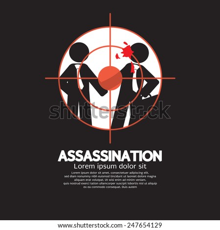 Assassination Looking Through A Sniper View Vector Illustration - stock vector