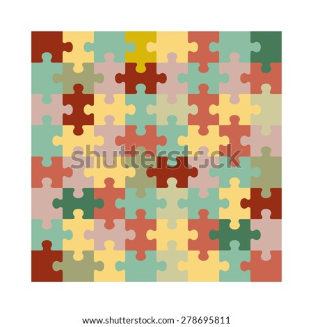 Assembled jigsaw puzzle. Illustration suitable for advertising and promotion - stock vector