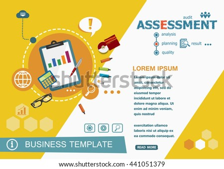 Assessment concepts of words learning and training. Assessment flat design banners for website and mobile website, easy to use and highly customizable.