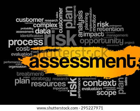 ASSESSMENT word cloud, business concept - stock vector
