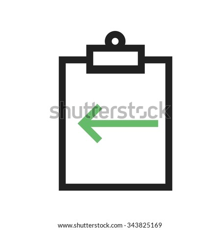 Assignment, deadline, incomplete icon vector image. Can also be used for material design. Suitable for use on web apps, mobile apps and print media.