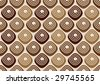 Assorted chocolate pralines - seamless wrapper pattern - stock photo
