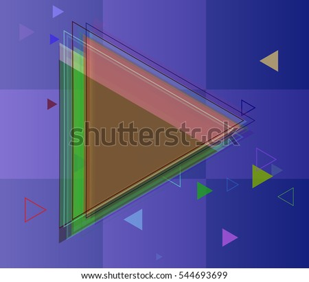 assorted triangles of decoration and card