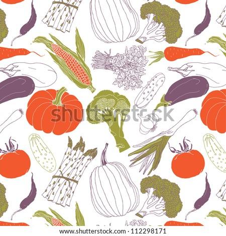 Assorted Vegetables - stock vector