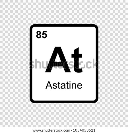 Astatine chemical element sign atomic number stock vector 1054053521 astatine chemical element sign with atomic number chemical element of periodic table urtaz Gallery