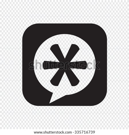 Asterisk Footnote sign icon