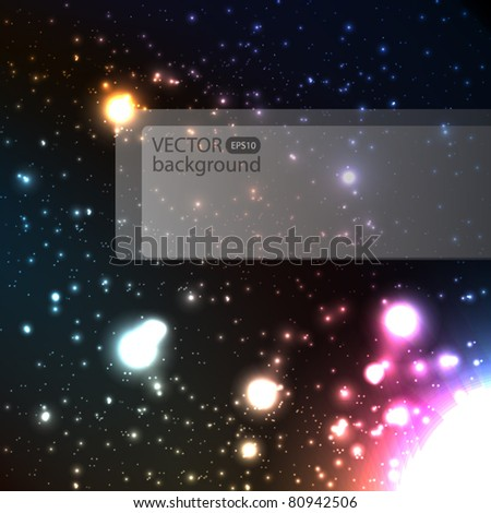 Astral vector background - stock vector