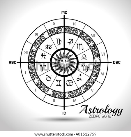 astrological signs of the zodiac  - stock vector