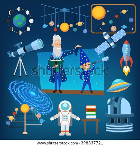 Astrology astronomy icons planet science and astrology astronomy icons universe moon. Astrology astronomy space. Planets and sun from our solar system astrology astronomy icons vector illustration. - stock vector