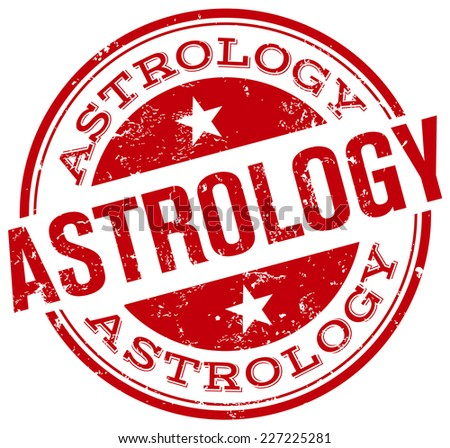 astrology stamp - stock vector