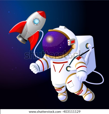 astronaut floating in space cartoon - photo #23