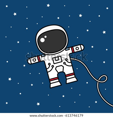 astronaut floating in space cartoon - photo #3