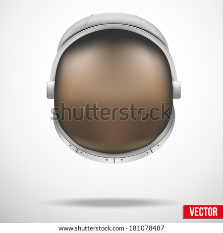 Astronaut helmet with big glass and reflection. Astronaut costume and helmet. Nasa costume. & Astronaut Helmet Big Glass Reflection Astronaut Stock Vector ...
