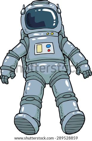 Astronaut on a white background vector illustration - stock vector