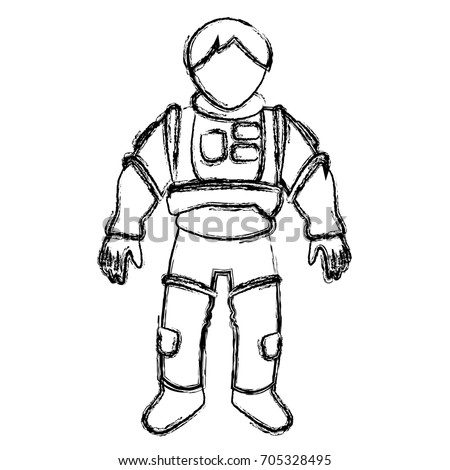 astronaut space suit people science astronomy on white background