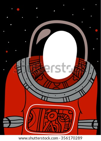 Astronaut with empty zone in head - stock vector