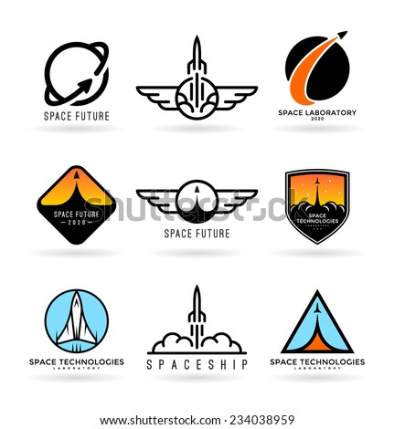 Astronautics. Spaceships (4) - stock vector