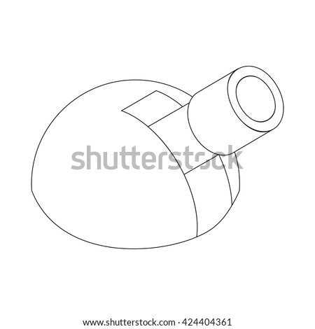 Astronomical observatory icon, isometric 3d style - stock vector