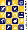 astronomy, astrology and space icons - stock vector