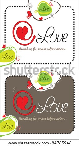 At Love! - stock vector