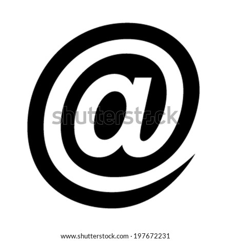 At sign - stock vector