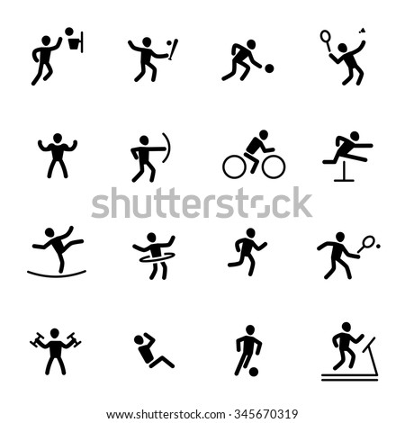 athlete sport action vector icon - stock vector