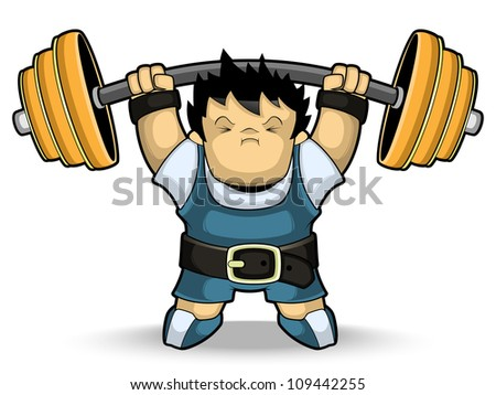 Athlete weightlifter - stock vector