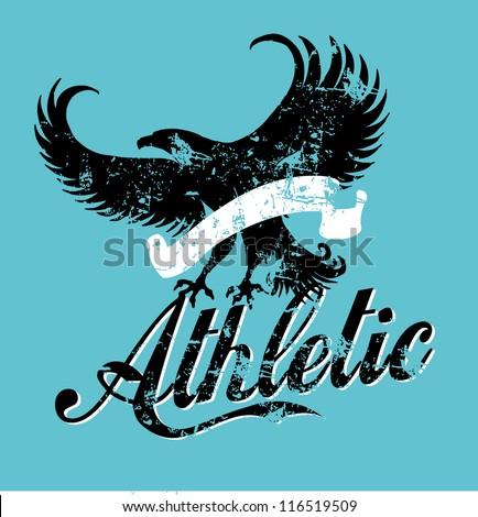 athletic eagle spirit - stock vector