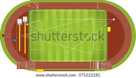 Athletic stadium  - stock vector
