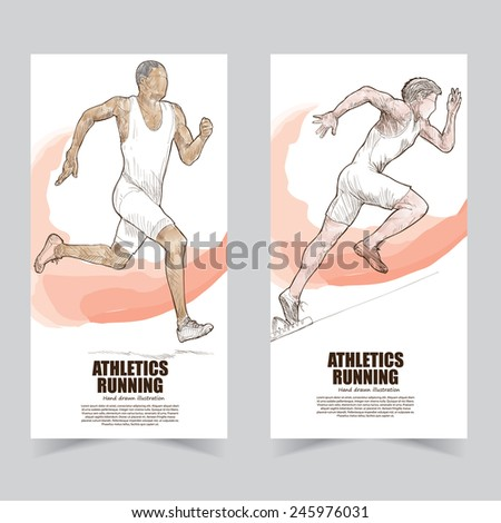 athletics banners. - stock vector