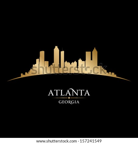 Atlanta Georgia city skyline silhouette. Vector illustration - stock vector