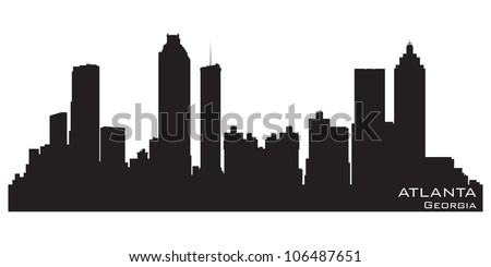 Atlanta, Georgia skyline. Detailed vector silhouette - stock vector