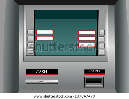 ATM - stock vector