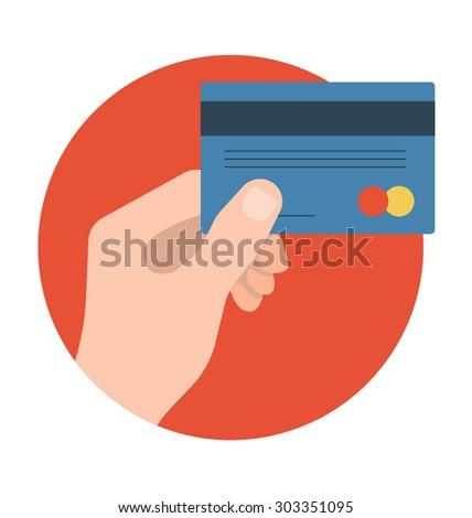 Atm Card Vector Icon  - stock vector