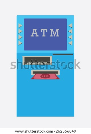 ATM, Cash Machine. Vector Illustration. - stock vector