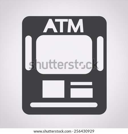 Atm Icon atm card slot icon - stock vector