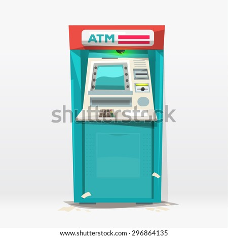 ATM machine - vector illustration - stock vector